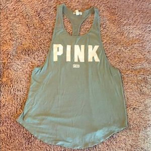 PINK racer back tank- X small
